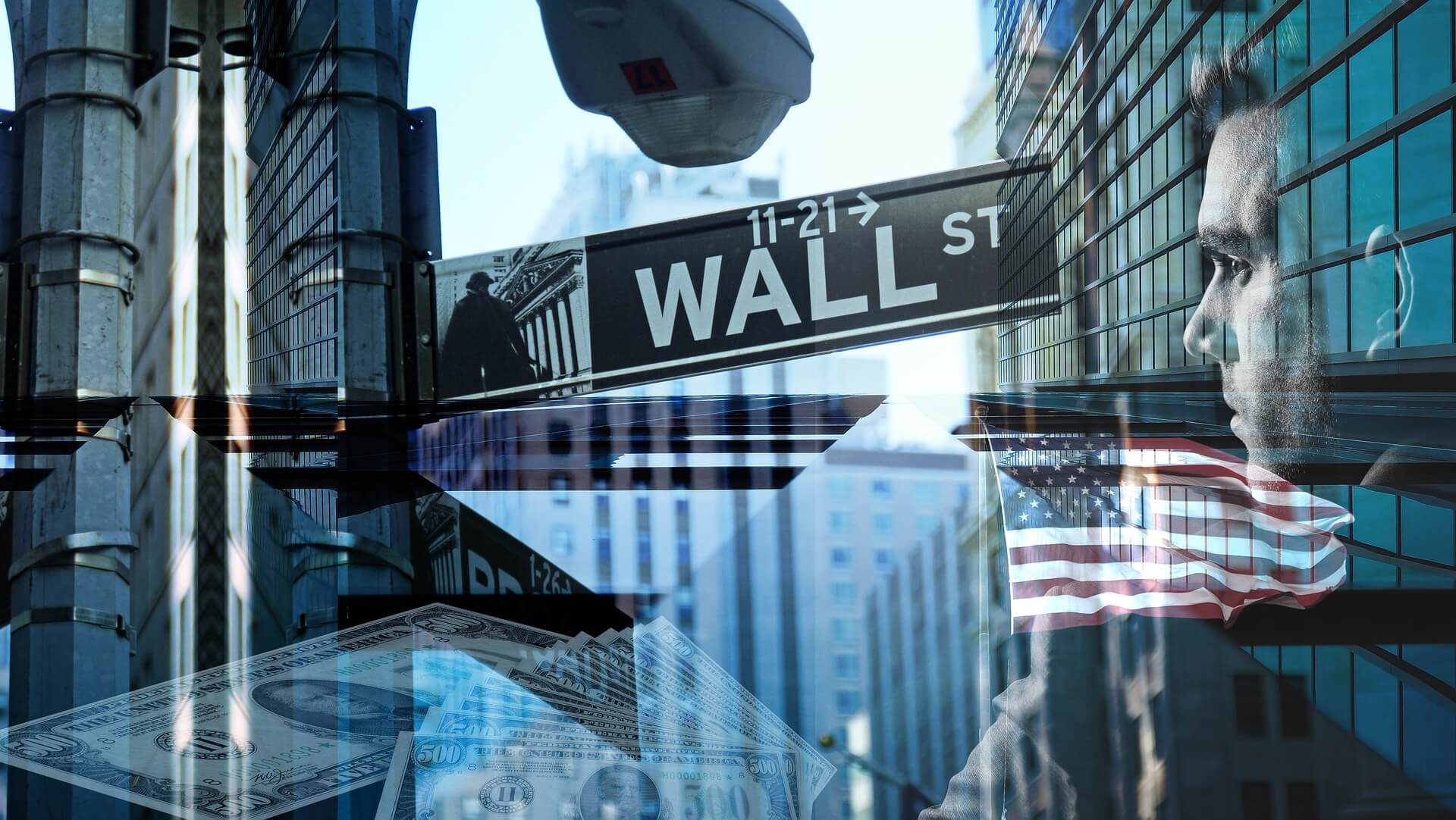 Wall Street affected by the coronavirus crisis