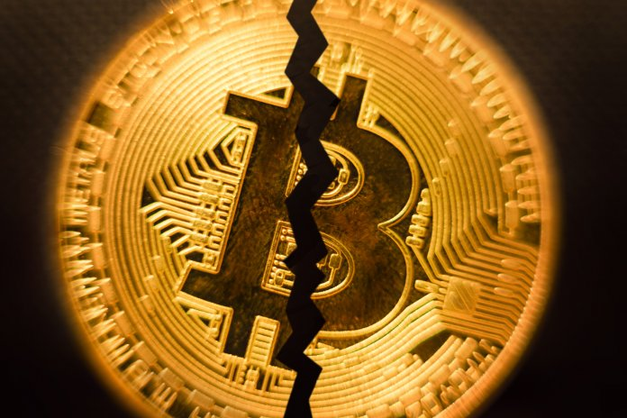 Bitcoin Halving - the price before fell down