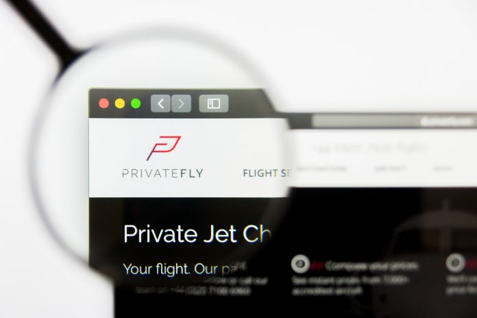 PrivateFly - more than 19% payments in Bitcoin
