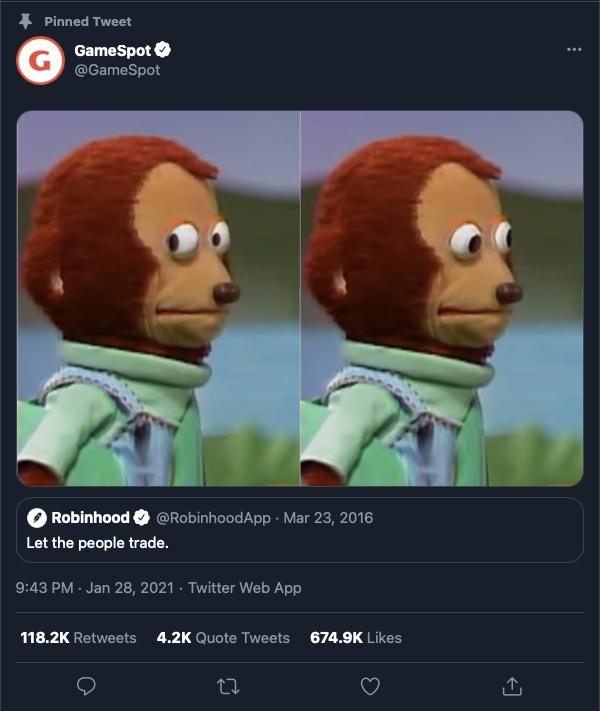 Game Spot tweet