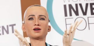 Sophia the robot created her own NFT portrait